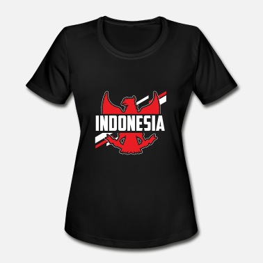Southeast Asia Indonesia Flag Indonesian Asia Southeast Asia Gift - Women's Moisture Wicking Performance T-Shirt