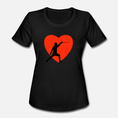 Fence Designs FENCING RETRO DESIGN - Women's Moisture Wicking Performance T-Shirt