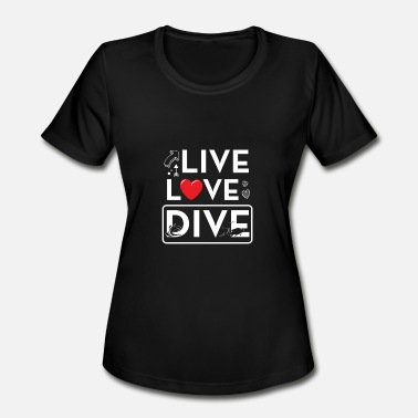Diving Gift Diving Dive Funny Gift - Women's Moisture Wicking Performance T-Shirt