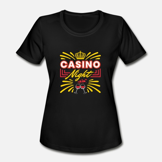 Casino T-Shirts - Casino Night - Women's Sport T-Shirt black