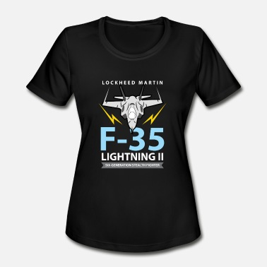 Stealth Aviation Tees: F-35 Lightning II Stealth Fighter - Women's Sport T-Shirt