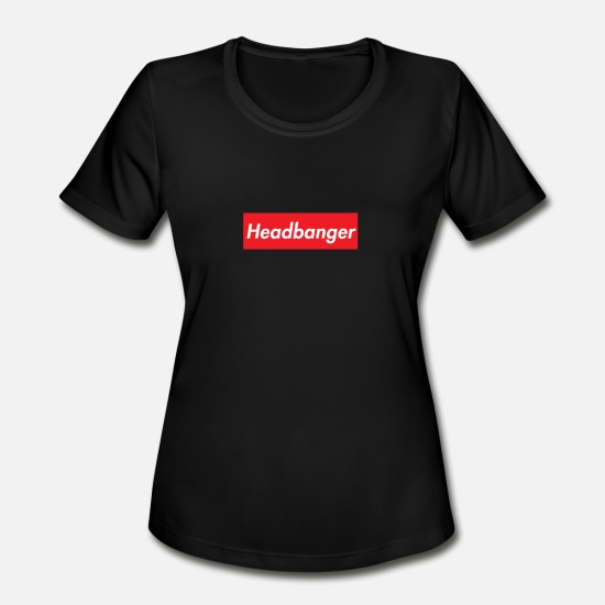 Headbanger T-Shirts - Headbanger Red Box Logo - Women's Sport T-Shirt black