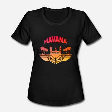 Flag Havana Havana Sunset - Women's Moisture Wicking Performance T-Shirt