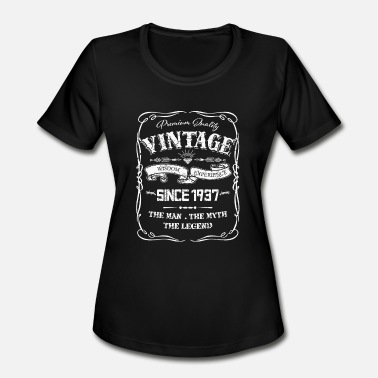1937 1937 - 80th Birthday gift Vintage 1937 80 year - Women's Moisture Wicking Performance T-Shirt