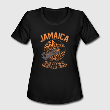 Oi Ska Music Jamaica 1988 Olympic Bobsled team - Women's Moisture Wicking Performance T-Shirt