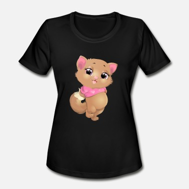 Character Cat animal smile heart - Women's Sport T-Shirt