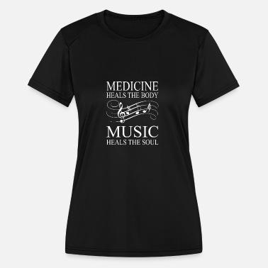 3b42fd7e5 Music - Heals the soul - Women's Sport T-Shirt