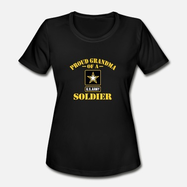 Army Proud Grandma Proud US Army Grandma - Women's Moisture Wicking Performance T-Shirt