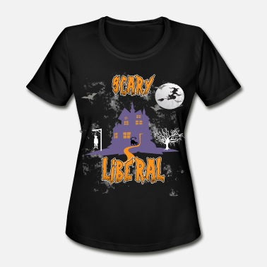Luffy Scary Liberal Halloween Shirt Witch Tee Gift Idea - Women's Moisture Wicking Performance T-Shirt
