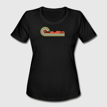 Retro Style Fairbanks Alaska Skyline - Women's Moisture Wicking Performance T-Shirt