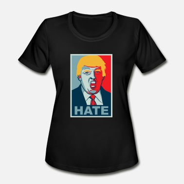 Fuck Isis Donald Trump Hate Poster - Women's Moisture Wicking Performance T-Shirt