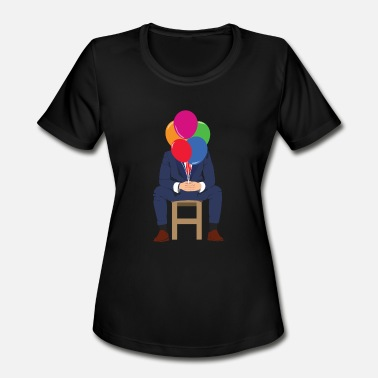 Tension Businessman balloon - Women's Moisture Wicking Performance T-Shirt