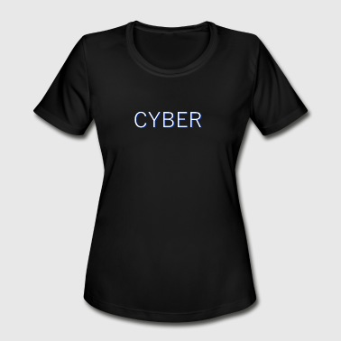 Cyber Simple - Women's Moisture Wicking Performance T-Shirt