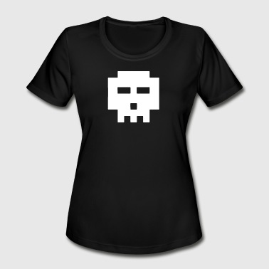8 Bit Skull 8-Bit Skull - Women's Moisture Wicking Performance T-Shirt