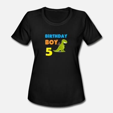 5 Year Old Boy Birthday boy 5 years old - Women's Moisture Wicking Performance T-Shirt