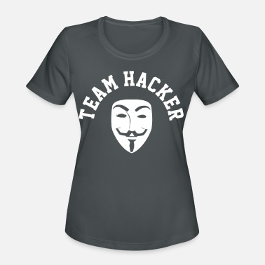 Hacker Hacker Anonymous Mask Computer Funny - Women's Sport T-Shirt