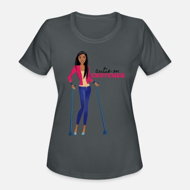 Forearm Cutie on Crutches - Women's Sport T-Shirt