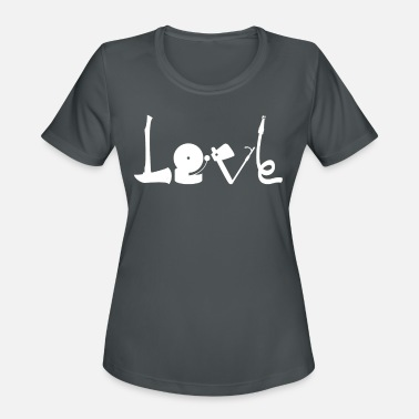 Volunteer Fire Department Love love firefighter volunteer fire department - Women's Sport T-Shirt
