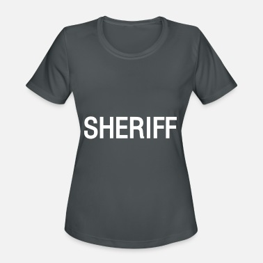 Black Official Issue Sheriff Raid Double Sided T-Shirt