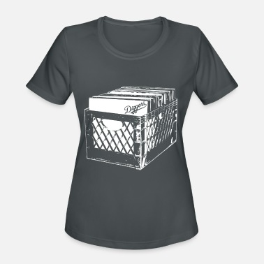 CRATE DIGGERS RECORD COLLECTOR DJ CLASSIC - Women's Sport T-Shirt