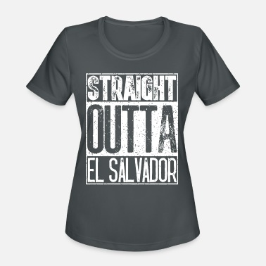 Straight Outta El Salvador Funny Mens Or Women Gif - Women's Sport T-Shirt