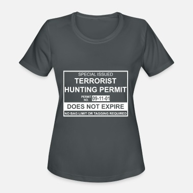 Isis Terrorist Hunting Permit Funny Mens Soft Anti Isis - Women's Sport T-Shirt