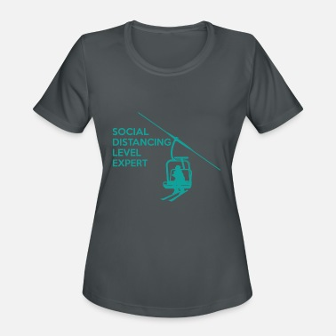 Skier Social distancing expert skiing gift vacation - Women's Sport T-Shirt