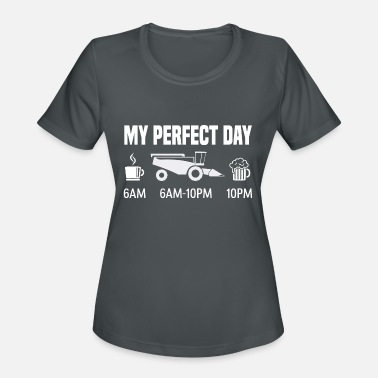 Combine My perfect day - combine harvester farmer gift - Women's Sport T-Shirt