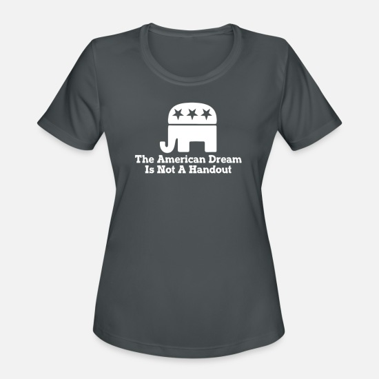 Sayings T-Shirts - REPUBLICAN - Women's Sport T-Shirt charcoal