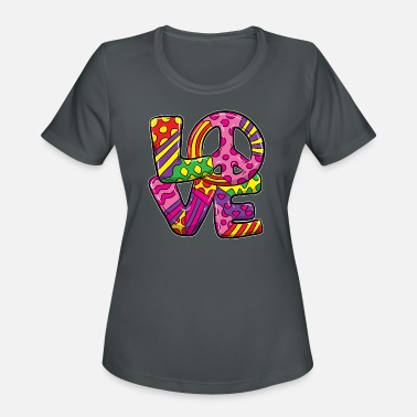 Global Peace LOVE PEACE - Women's Sport T-Shirt