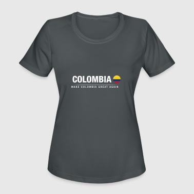 Make Country Great Again Make Colombia Great Again - Women's Moisture Wicking Performance T-Shirt