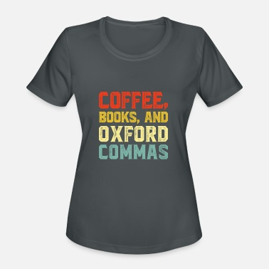 Oxfordshire Coffee Books and Oxford Commas - Women's Sport T-Shirt