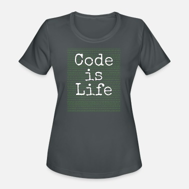 Programming swift Code is Life Gift for Programmers Who Love Coding - Women's Moisture Wicking Performance T-Shirt
