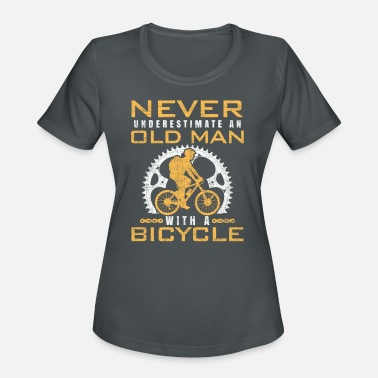 Never Underestimate An Old Man With A Bmx Bike Bicycle Old Man - Women's Sport T-Shirt