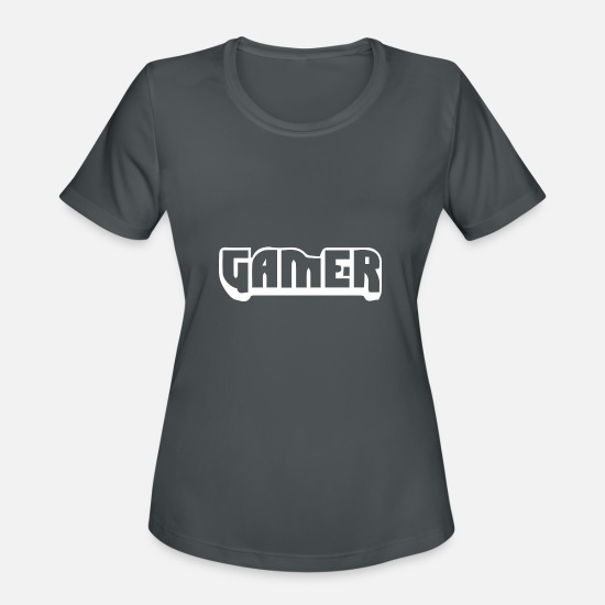 Play T-Shirts - gamer nerd 2 - Women's Sport T-Shirt charcoal