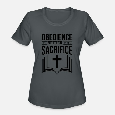 Obedience Obedience - Women's Moisture Wicking Performance T-Shirt