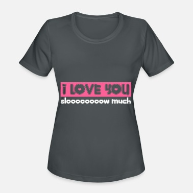 Warm Love You Slow Much Sloth Heart Gift - Women's Sport T-Shirt