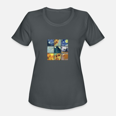 Van VAN GOGH COLLAGE - Women's Sport T-Shirt