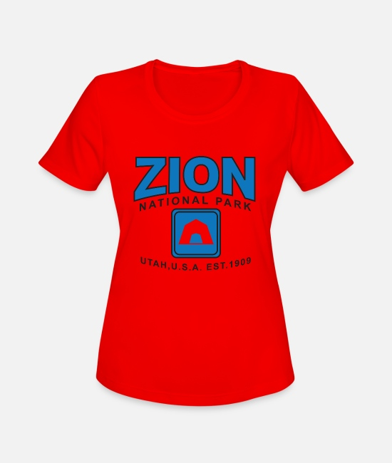 Nature T-Shirts - Zion National Park - Women's Sport T-Shirt red