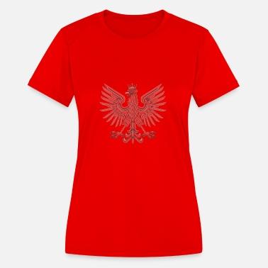 Printed Polska Polish Country Pride Womens Funny Shot Sleeves T Shirt