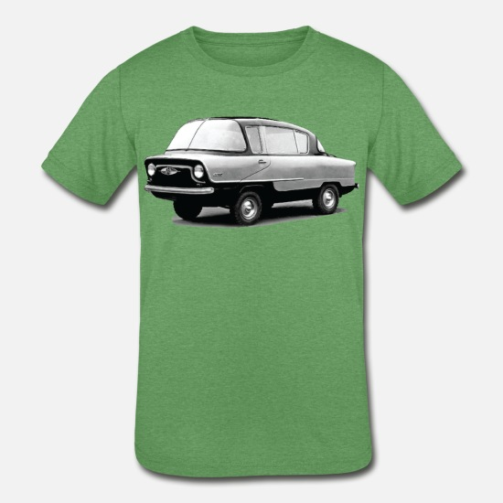 Soviet T-Shirts - Vintage Soviet Muscle Car - Kids' Tri-Blend T-Shirt heather green