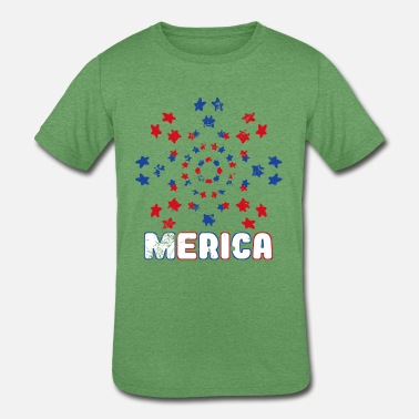 merica independence day - Kids' Tri-Blend T-Shirt