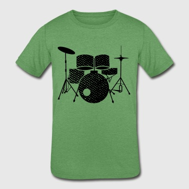 Kids Percussion drummer kids drums drumkit - Kids' Tri-Blend T-Shirt