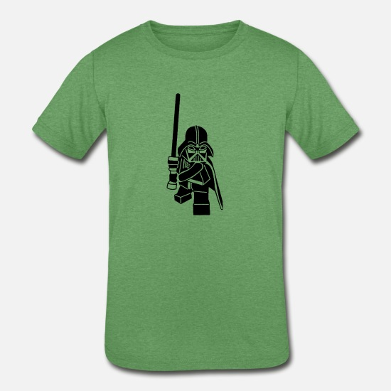 Lego T-Shirts - Lego Darth Vader - Kids' Tri-Blend T-Shirt heather green