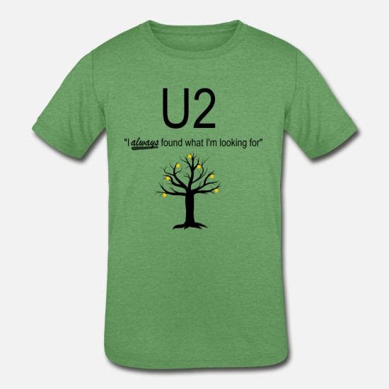 U2 T-Shirts - U2 Funny Music Shirt - Kids' Tri-Blend T-Shirt heather green