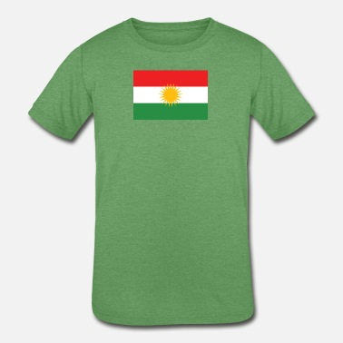 Kurdish Flag - Kids' Tri-Blend T-Shirt