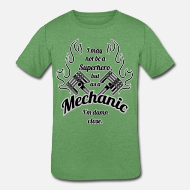 Mechanic Super Hero - Kids' Tri-Blend T-Shirt