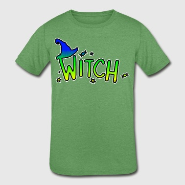 Cool Funky Art Witch Colorful - Kids' Tri-Blend T-Shirt