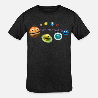 Planet Meet the Planets! - The Nirks - (with Pluto) - Kids' Tri-Blend T-Shirt