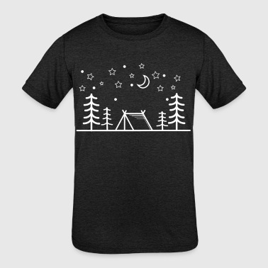 Camper - Camping - Outdoor - Adventure - Outsider - Kid's Tri-Blend T-Shirt